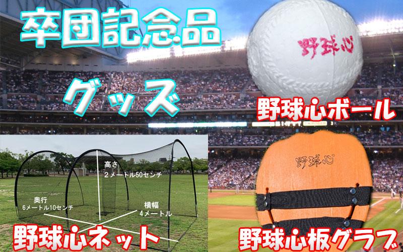 卒団記念品に大人気 野球心練習グッズ